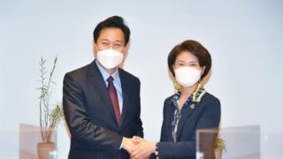 오세훈 서울시장(좌측)과 한정애 환경부 장관