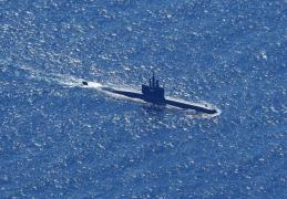 This aerial photo shows the Indonesian Navy submarine that went missing off Bali on April 21, 2021. (Photo: EPA-Yonhap News)