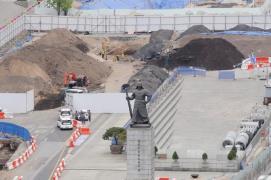 Gwanghwamun Square construction site