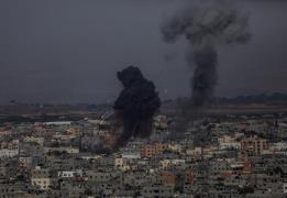 이스라엘군 공습으로 파괴된 팔레스타인 가자지구