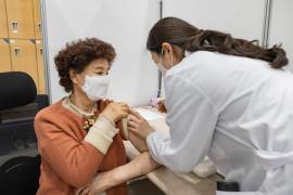 어르신 백신 접종 모습<사진=광진구청>