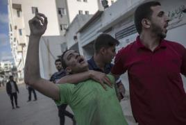 팔레스타인 가자 지구 폭격으로 피해