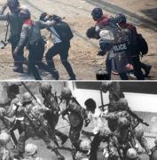 1980년 광주 2021년 미얀마 <출처: 로이터 연합뉴스·민주화운동기념사업회>