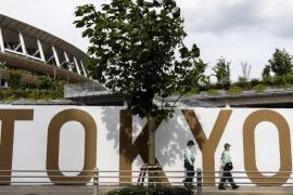 in front of  the Olympic Stadium (AFP-Yonhap)