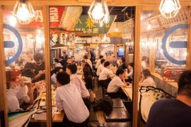 Packed Tokyo restaurant amid state of emergency (AFP-Yonhap)