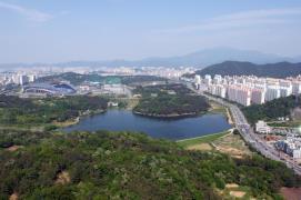 Gwangju City aerial
