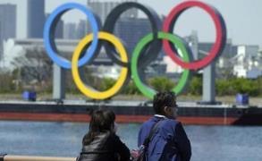 도쿄 올림픽을 상징하는 오륜 조형물