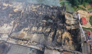 쿠팡 물류센터 화재 현장