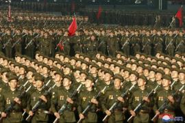 NK soldiers 73 founding anniversary