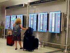 traveler Miami Intl airport AFP