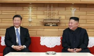 시진핑 중국 국가주석(왼쪽)과 김정은 북한 국무위원장