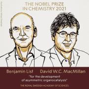 노벨화학상을 받은 베냐민 리스트와 데이비드 맥밀런