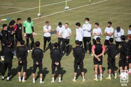 Team''s first practice in Tehran - Korea Football Association