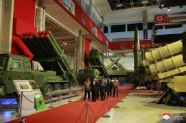 Kim Jong-un attends a rare defense forum - KCNA-Yonhap