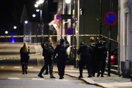 Police is investigating a site of an attack in Kongsberg, Norway, 13 October 2021. - EPA
