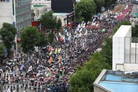 Labor group protest on July 3