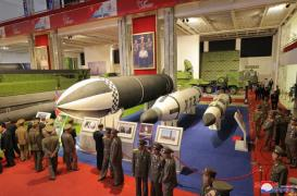 N. Korea shows off SLBM at rare defense exhibition earlier this month