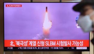 북한, SLBM 추정 단거리 탄도미사일 발사