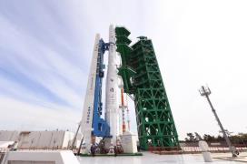 Nuri rocket stands ready
