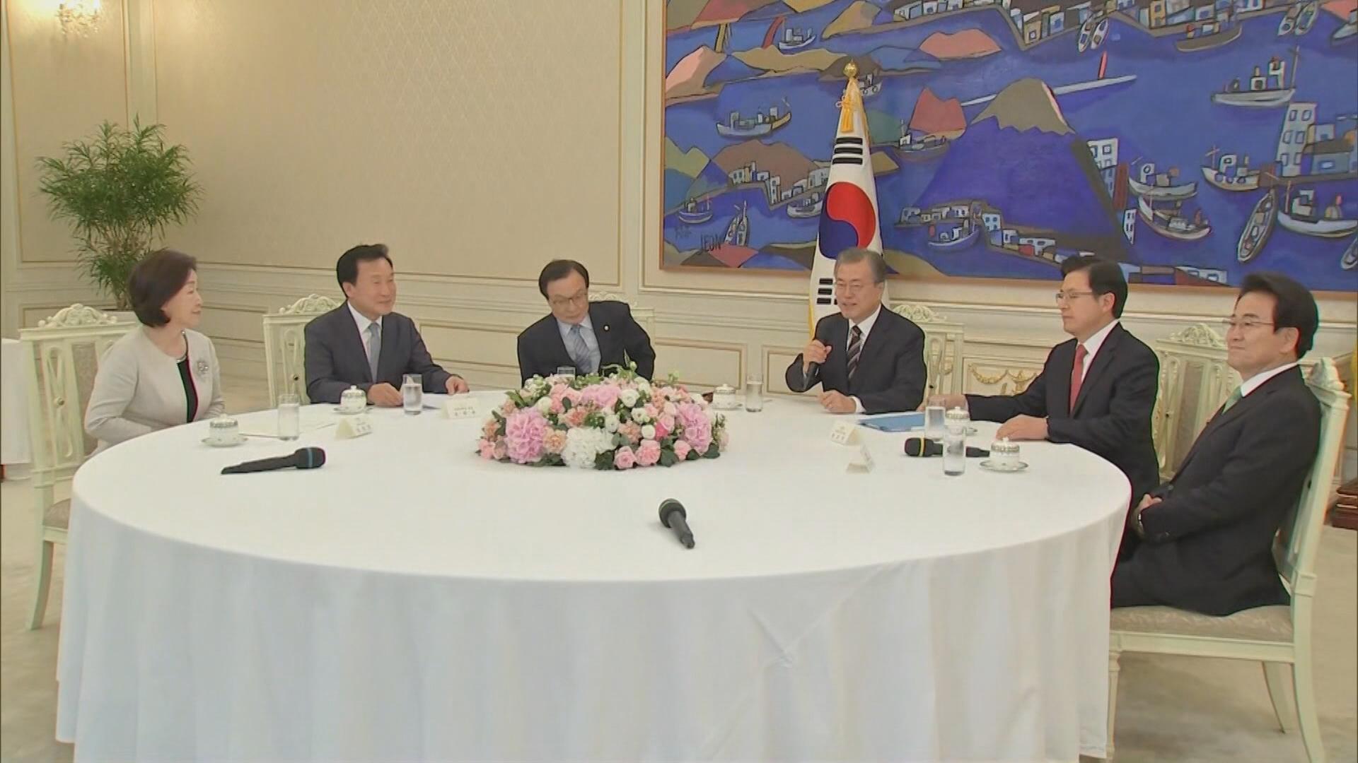 문대통령-5당 대표 회동…'日 대응' 공동발표